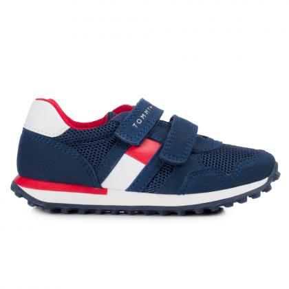 Tommy Hilfiger Sneaker mit Klett und Mesh - navy