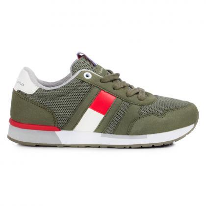 Tommy Hilfiger Sneaker mit Mesh - oliv