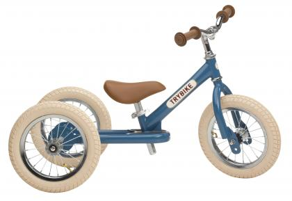 TRYBIKE steel 2 in 1 balance bike - vintage blue