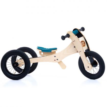 TRYBIKE Wood 4-in1-Laufrad - Petrol Edition