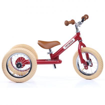TRYBIKE steel 2 in 1 balance bike - vintage red