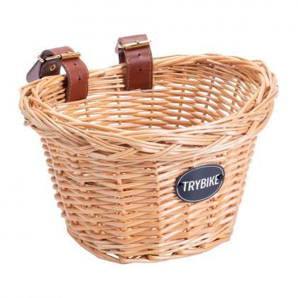Trybike Lenkerkorb aus Echtholz - beige