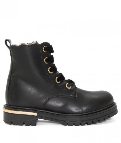 Twin Set Leder Boots - schwarz