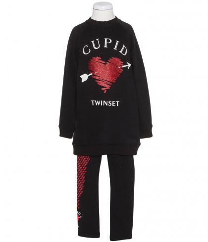 Twin Set Sweatshirt mit Leggings - schwarz
