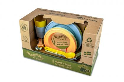 Viking Toys Ecoline Geschirr Set, 24 Teile