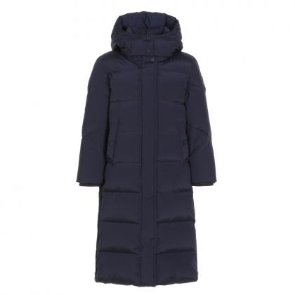 Woolrich Aurora Long Parka Girl - navy