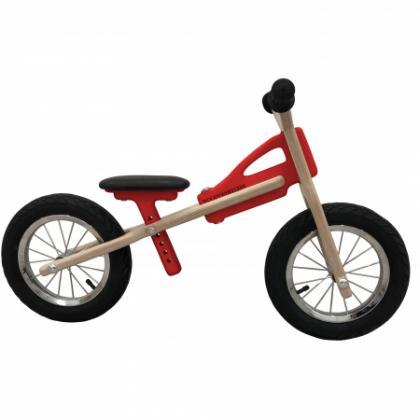 Woodywheelers Laufrad Woody Classic - rot