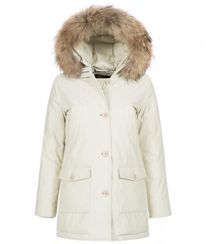 Woolrich Arctic Parka Slim DF mit Echtfell in white iglo
