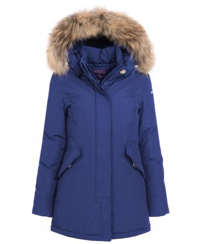 Woolrich Arctic Parka Girl mit Echtfell in blueberry
