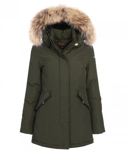Woolrich Arctic Parka Girl mit Echtfell in olive