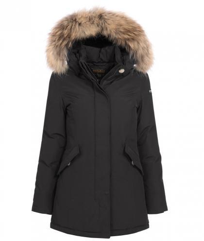 Woolrich Arctic Parka Girl mit Echtfell in schwarz
