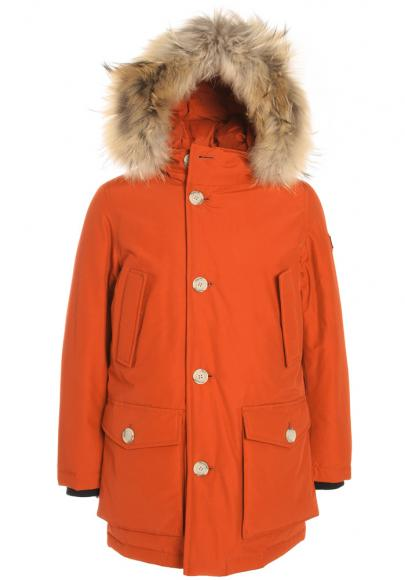 Woolrich Kinderjacke Arctic Parka mit Echtfell in true orange