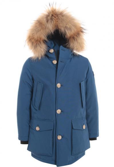 Woolrich Kinderjacke Arctic Parka mit Echtfell in royalblau