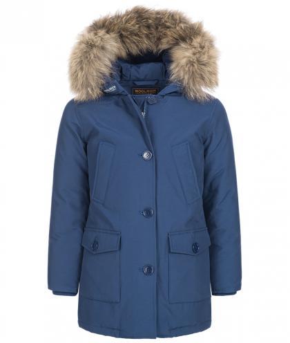 Woolrich Arctic Parka Slim DF mit Echtfell in blau