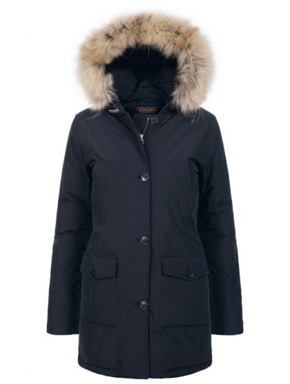 Woolrich Arctic Parka Slim DF with real fur in navy