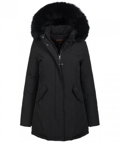 Woolrich Luxury Arctic Parka Fox with real fur in black