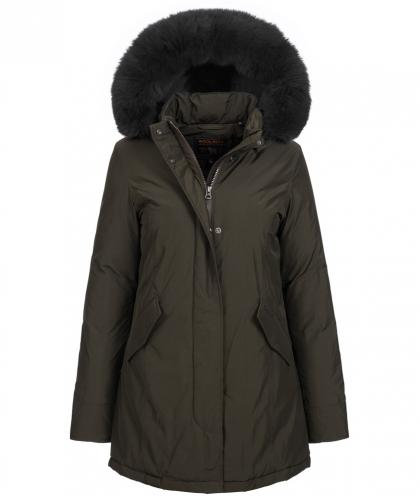 Woolrich Luxury Arctic Parka Fox mit Echtfell in dark green