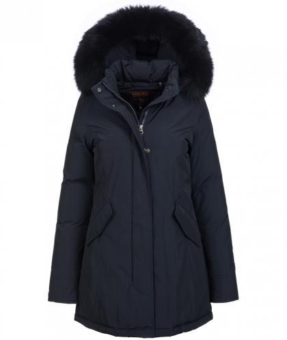 Woolrich Luxury Arctic Parka Fox mit Echtfell in midnight blue