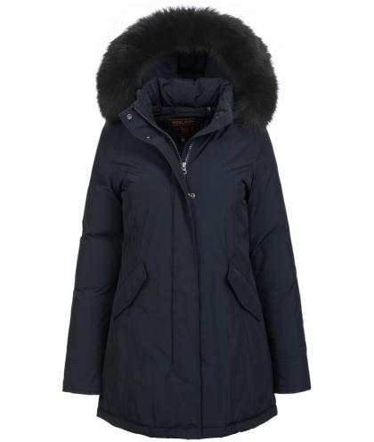 Woolrich Luxury Arctic Parka Fox mit Echtfell in midnight blue