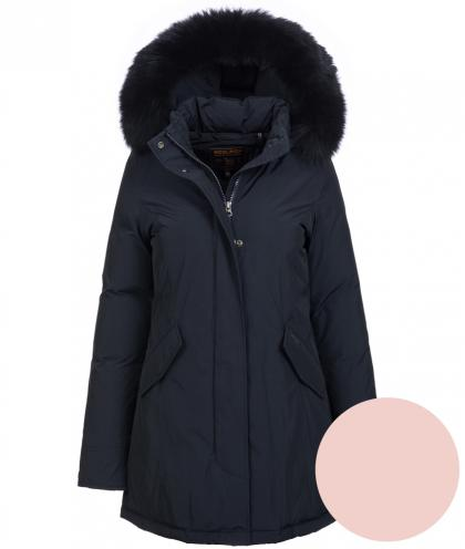 Woolrich Luxury Arctic Parka Fox mit Echtfell in rosa