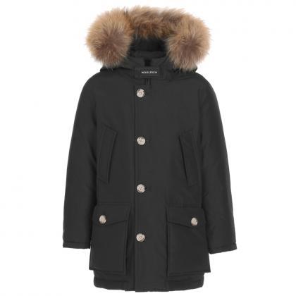 Woolrich Arctic Parka HC mit Echtfell - schwarz