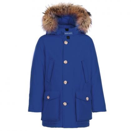 Woolrich Arctic Parka HC mit Echtfell - electric blue