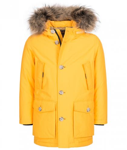 Woolrich Arctic Parka mit Echtfell in gelb