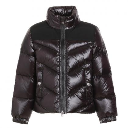 Woolrich Logo Arctic Jacket made of material mix - black