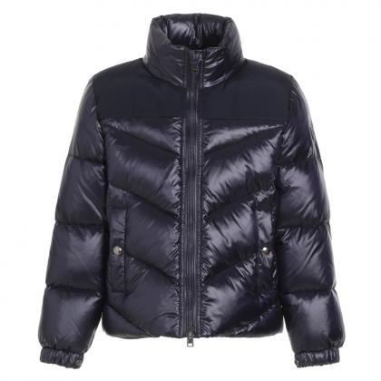Woolrich Logo Arctic Jacket made of material mix - midnight blue