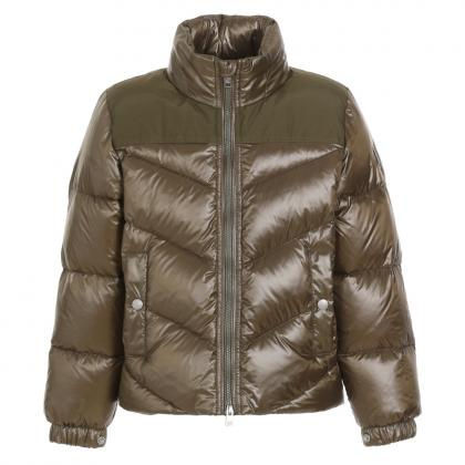 Woolrich Logo Arctic Jacket made of material mix - olive