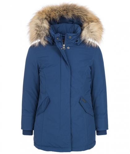 Woolrich Luxury Arctic Parka Girl mit Echtfell in blau
