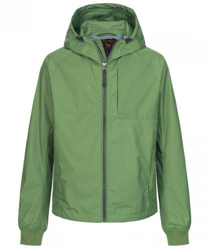 Woolrich Nylonjacke mit Kapuze in grün