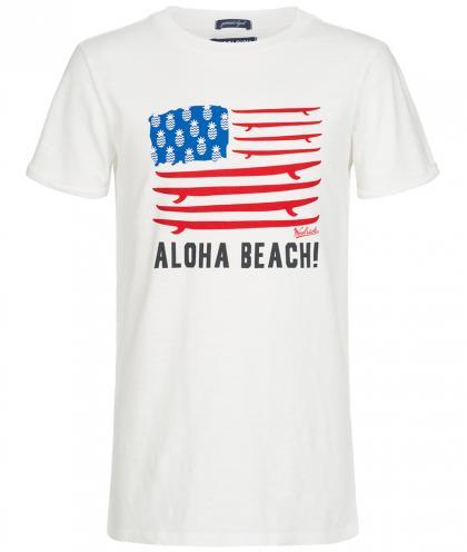 Woolrich Shirt mit Amerika-Flagge in creme