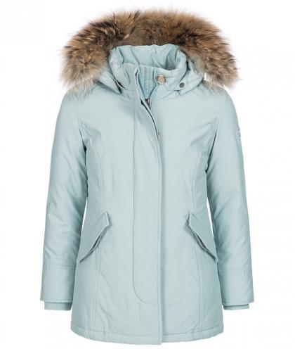 Woolrich Arctic Parka Girl mit Echtfell in hellblau