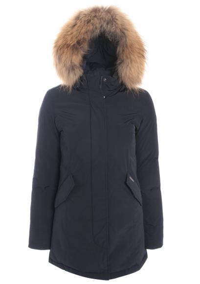 Woolrich Luxury Arctic Parka Girl mit Echtfell in Midnight Blue