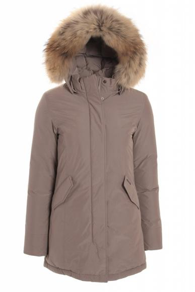 Woolrich Luxury Arctic Parka Girl mit Echtfell in Coffee Liquer