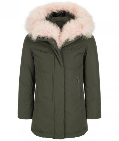 Woolrich Luxury Boulder fox parka with real fur in olive