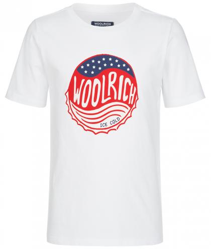 Woolrich America shirt with logo in white