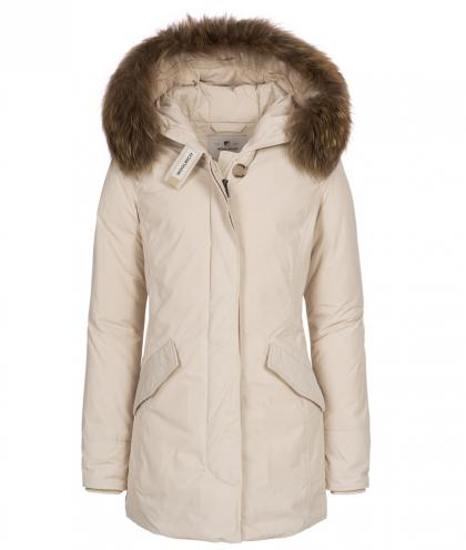 Woolrich Luxury Arctic Parka Girl with real fur - White Stone