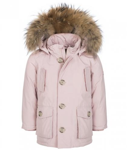 Woolrich Baby Arctic Parka mit Echtfell in rosa