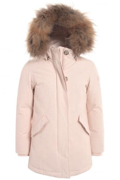 Woolrich Arctic Parka Girl with real fur in Light Bellflower