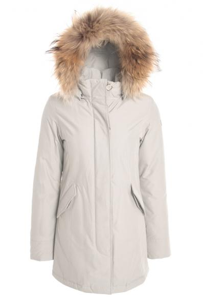 Woolrich Arctic Parka Girl mit Echtfell in white igloo