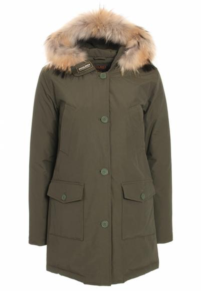 Woolrich Arctic Parka Slim DF with real fur in olive