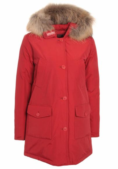 Woolrich Arctic Parka DF Girl mit Echtfell - sky red
