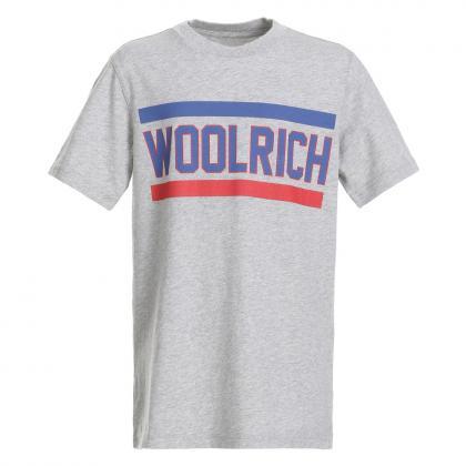 Woolrich Logo Over T-Shirt - grau