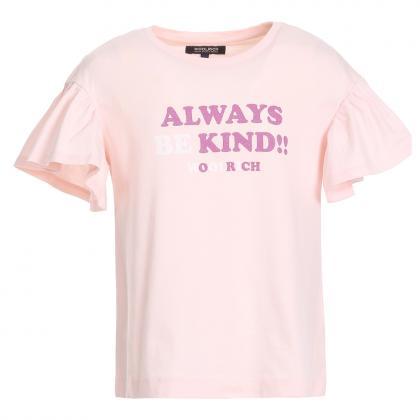 Woolrich logo t-shirt - pink