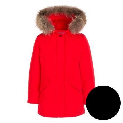 Woolrich Luxury Arctic Parka Girl mit Echtfell - schwarz