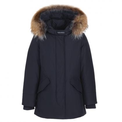 Woolrich Arctic Parka FR Girl with real fur - navy