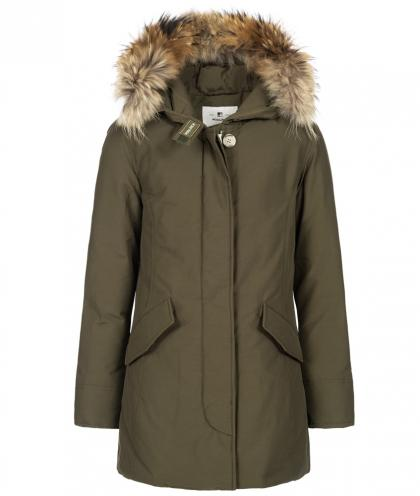 Woolrich Arctic Parka FR Girl with real fur - olive