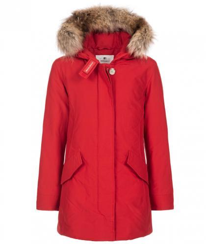 Woolrich Arctic Parka FR Girl mit Echtfell - sky red